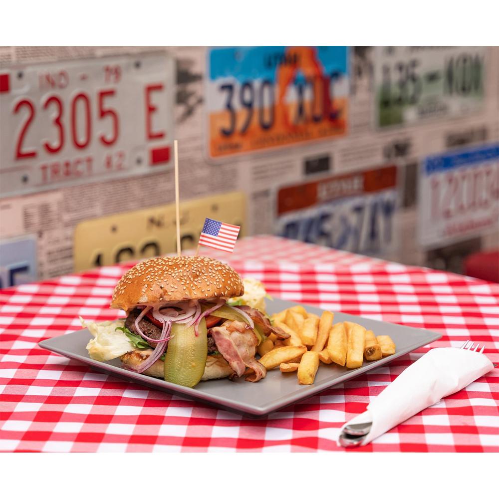 fotografia kulinarna Częstochowa hamburger z frytkami